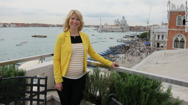 Samantha Brown has been hosting travel shows for the past 13 years. She's expecting twins this year: a boy and a girl.