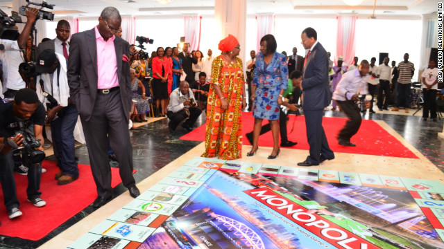 A giant version of the City of Lagos edition of Monopoly was unveiled earlier this week in the Nigerian city.&lt;br/&gt;&lt;br/&gt;