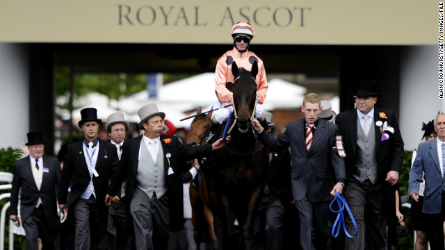 Black Caviar has only raced on a clockwise track three times -- at the 2011 TJ Smith Stakes, Queensland's BTC Cup, and Britain's Royal Ascot (pictured). She may return to Ascot this year, said co-owner Colin Madden.