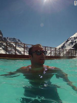 Svindal finds time to relax away from the rigors of training and competition.