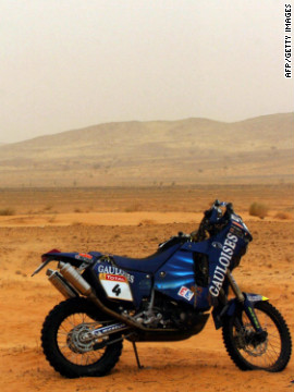 During the 2005 Dakar, motorbike riders Jose Manual Prez and Fabrizio Meoni died in consecutive days after separate crashes. That year motorcyclist Cyril Despres dedicated his victory to Meoni and Richard Sainct, who had died a few weeks earlier during the Pharaohs Rally.