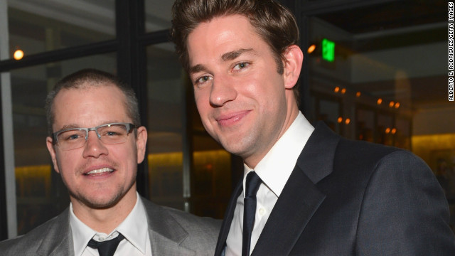 John Krasinski is just the bro on the side for Matt Damon