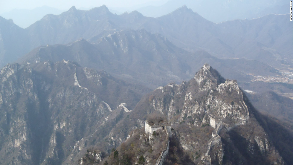 For hiking and photography enthusiasts, there is no better place on the Great Wall of China than the dramatic and difficult Jiankou section, says CNN cameraman Brad Olson. Located about 90 km from Beijing, the Ming Dynasty relic is best entered from the north through the village of Xizhazi in Beijing's Huairou District. As the section is about 9 miles (18 km) long with rugged terrain, Olsen covered it over four visits, once during each season.