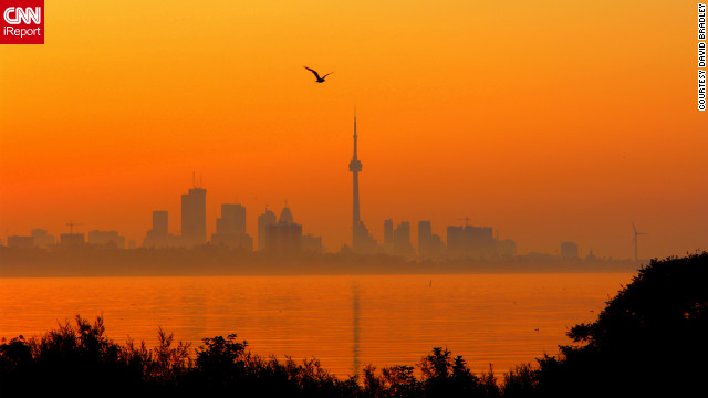 "Searing temperatures and high humidity brought a heat wave to Toronto, Canada, in July. ""These past days have been brutal with the heat, the humidity. Tempers are short, electricity system is straining but not buckling... yet,"" photographer David Bradley told us at the time."