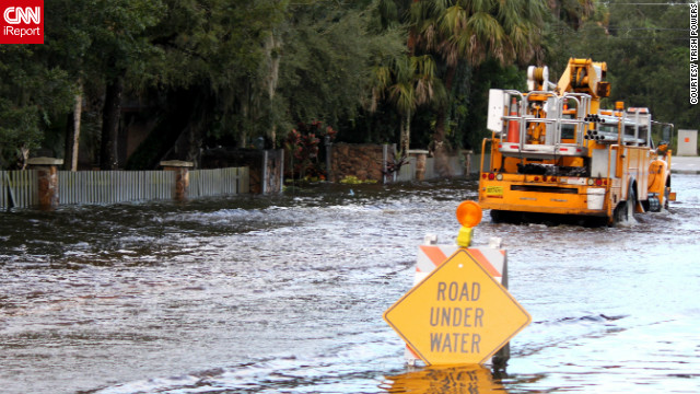 Hurricane Isaac brought flooding to the streets of Fort Pierce, Florida in August. Trish Powers described the water as &quot;waist deep&quot; at times. See more Isaac images here.&lt;br/&gt;&lt;br/&gt;