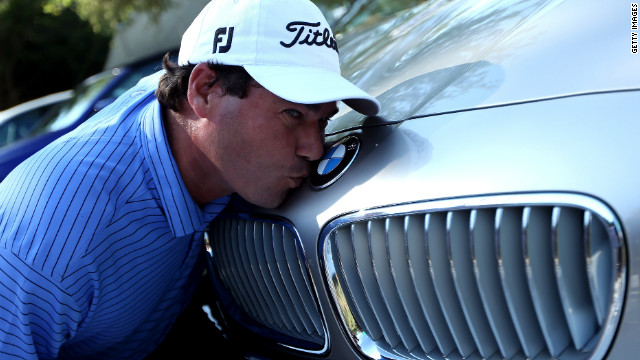 South African golfer Keith Horne was presented with a BMW car after his second hole-in-one on the 12th at Leopard Creek.