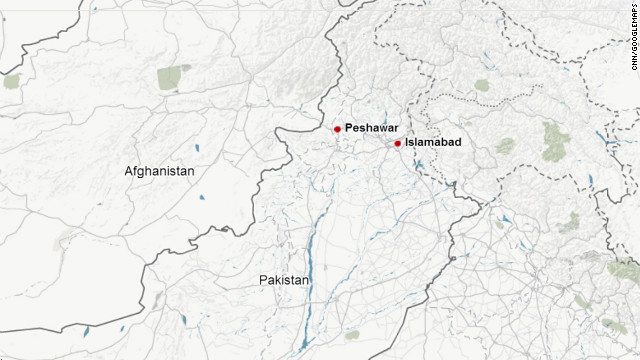Map: Peshawar, Pakistan