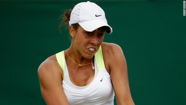 American Madison Keys has played at two previous grand slams, winning one match.