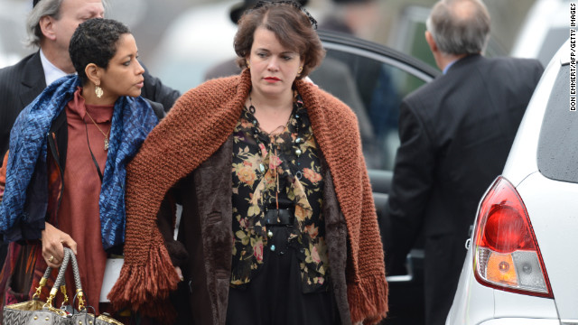 Veronika Pozner, mother of Noah Pozner, arrives for her son's funeral on Monday, December 17, at the Abraham L. Green and Son Funeral Home in Fairfield, Connecticut. Monday is the first day of funerals for the 20 children and seven adults who were killed by 20-year-old Adam Lanza on December 14.