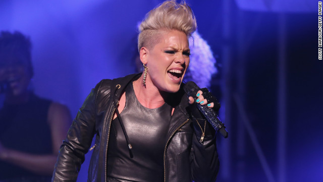 "Pink released ""Blow Me (One Last Kiss),"" the first single off her sixth studio album, ""The Truth About Love,"" in July. She <a href='http://www.mtv.com/videos/misc/832106/blow-me-one-last-kiss-live.jhtml' target='_blank'>performed the song</a> at the 2012 MTV Video Music Awards in September with help from some dancing lips."