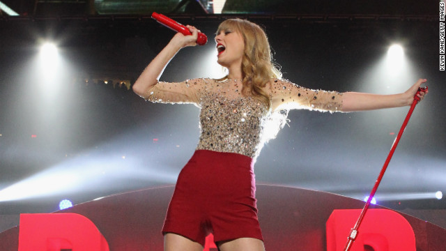 Taylor Swift's &quot;Red&quot; sold more than a million copies its first week, and her song &quot;We Are Never Ever Getting Back Together&quot; became Swift's first No. 1 pop hit.