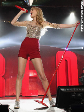 """We Are Never Ever Getting Back Together"" is the first single off Taylor Swift's ""Red,"" which was released in October. The tune is the country-pop princess's <a href='http://www.billboard.com/artist/taylor-swift/766101#/artist/taylor-swift/chart-history/766101?sort=position' target='_blank'>first to hit No. 1 on the Billboard Hot 100</a>; it also earned Swift a <a href='http://marquee.blogs.cnn.com/2012/12/06/fun-dan-auerbach-frank-ocean-lead-grammy-nods' target='_blank'>Grammy nod</a> for record of the year."