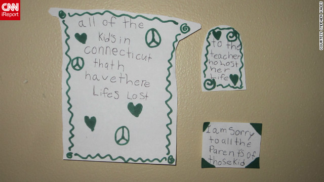When Stephen Kales told his daughter the news, she went into her room and created these memorials.