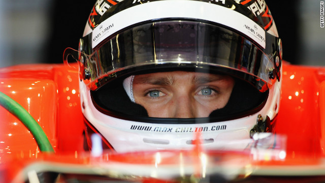 Briton Max Chilton will make his Formula One debut in the 2013 season with the Marussia F1 team