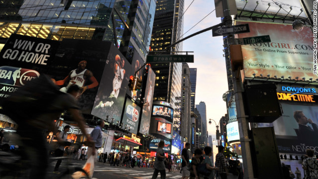 <strong>Most U.S. Facebook check-ins: Times Square: </strong>Times Square in New York City had the most U.S. Facebook check-ins of 2012, according to Facebook Trends. More than three million people have used Facebook's check-in button to say they were there.
