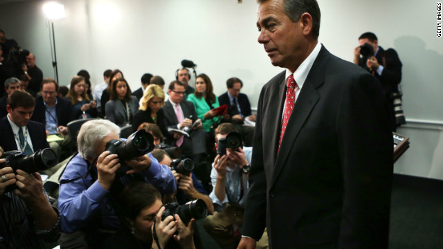 Shooting forces both sides to work harder on cliff, Boehner says