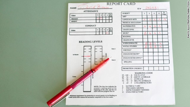 My View: Don't harp on report cards this holiday break