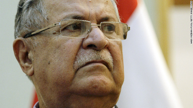 El presidente de Iraq, Jalal Talabani es internado por un infarto