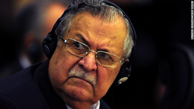 [File photo] Iraq's President Jalal Talabani in Istanbul on December 23, 2010.