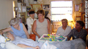 Family and friends celebrate Edwarda\'s 51st birthday.