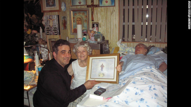 At Edwarda's birthday party in 2006, Manny Koukoulas presents Kathryn and Edwarda with a song, &quot;My Blessed Child,&quot; that he wrote for them.