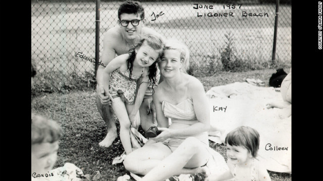 The O'Bara family in June 1957 at Ligonier Beach, Pennsylvania. Mother and daughter were close; shortly before she fell into a coma, Edwarda asked her mother, &quot;Don't ever leave me.&quot; Her mother promised she never would.