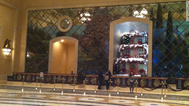 Check-in desk at the Palazzo Hotel
