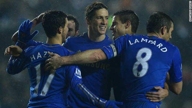Fernando Torres was on the scoresheet as Chelsea beat Leeds 5-1 to reach the League Cup semifinals
