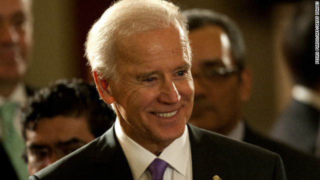 Rebecca Puckwalter-Poza says Vice President Joe Biden was a leader on gun control in the Senate.