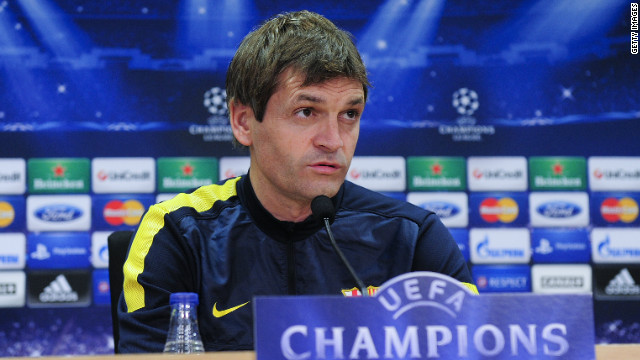 Tito Vilanova took over from all-conquering former Barcelona coach Josep Guardiola in June.