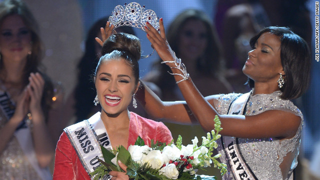 Miss USA Olivia Culpo is crowned Miss Universe 2012 at Planet Hollywood in Las Vegas on Wednesday, December 19. Eighty-nine countries and territories took part in this year's pageant.