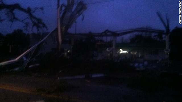 Storm damage reported in Mobile, Alabama