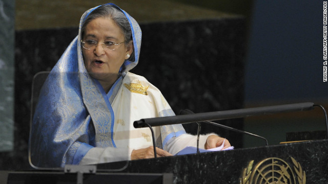 Sheikh Hasina is the prime Minister of Bangladesh. She is the daughter of Sheikh Mujibur Rahman, who led efforts for autonomy from Pakistan and was killed in a coup. 