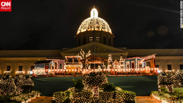 Each year the beautiful neoclassical Placio Nacional building in Santo Domingo is given a Christmas makeover. This photo of the presidential palace was taken by <a href='http://ireport.cnn.com/people/misael' target='_blank'>Misael Rincon</a>, a 31-year-old TV producer from the Dominican Republic.