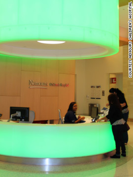 At Nemours, patients are allowed to choose a custom color for their hospital room. 