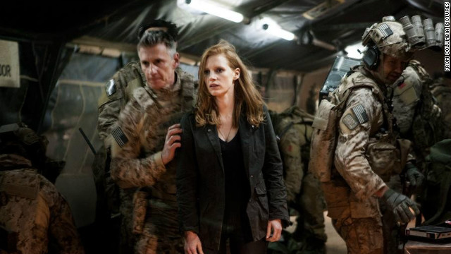 "Jessica Chastain commended director Kathryn Bigelow, who lost out on the best director Golden Globe, when she accepted the award for best actress in a movie drama for ""Zero Dark Thirty."""