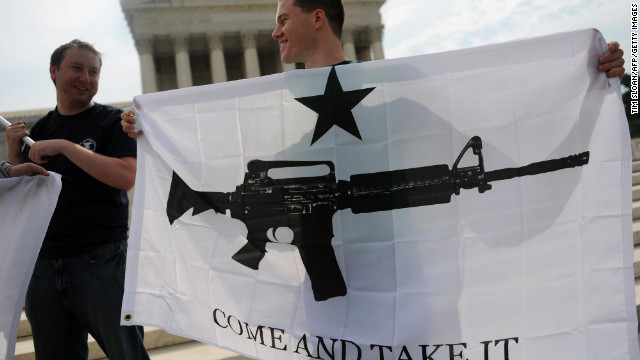 Gun rights activists celebrate a 2008 U.S. Supreme Court decision on whether the Constitution's Second Amendment right to &quot;keep and bear arms&quot; is fundamentally an individual or collective right. IReporter INGunowner's reasons for owning his AK-47 include his &quot;fascination with the Second Amendment, which I view as a backstop protector of freedom.&quot;