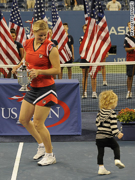Clijsters came out of retirement the previous year, having taken time out to have her first child. She defeated Caroline Wozniacki in the 2009 final after receiving a wild-card entry to the season's closing grand slam.
