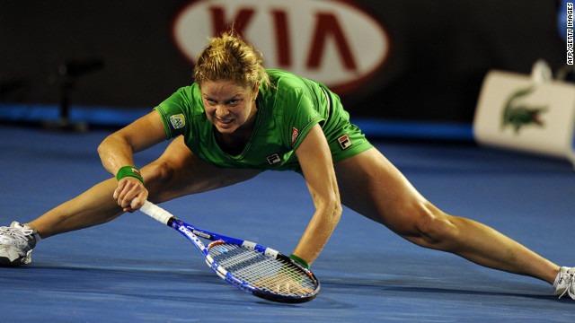 The daughter of a footballer and a gymnast, Clijsters is renowned for her on-court splits -- an ability which originated from her early years on clay courts but was later transferred to other surfaces.