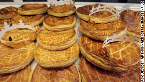 Variations on the king cake are embraced by many cultures. Some countries partake for New Year\'s, while in France galettes des roi are eaten on January 6.