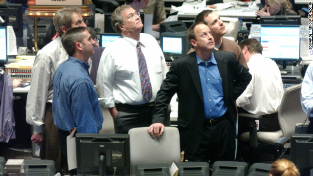 From left, Rick Davis, Eason Jordan, Tom Johnson, Jim Walton and Matt Furman in the CNN newsroom in March 2003 when the Iraq War first began.