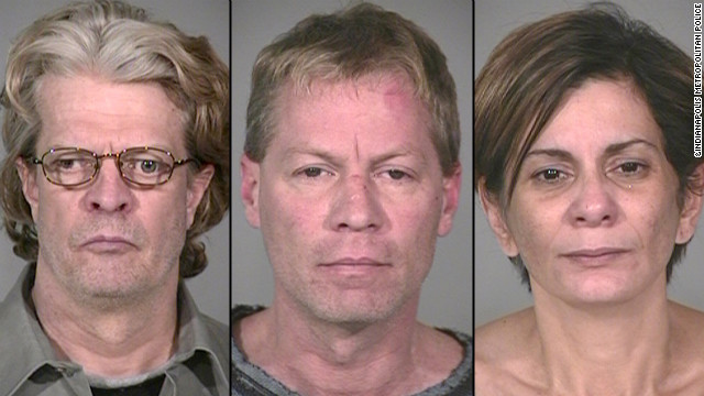 Bob Leonard Jr., left, Mark Leonard and Monserrate Shirley are accused in a deadly explosion.
