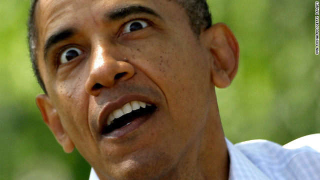 Obama acts out a part of the book &quot;Where The Wild Things Are&quot; during the White House Easter Egg Roll at the White House on April 9 in Washington.