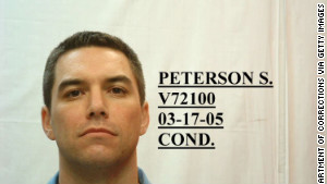 Scott Peterson sits on death row for the murder of his wife. 