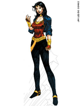 "Another pre-""New 52"" splash was made when Wonder Woman was given a new costume, a big departure from the one she had been wearing for nearly 75 years (though one costume change in the 1970s caused a similar uproar). The Amazon Princess' costume was changed yet again as the ""New 52"" launched."