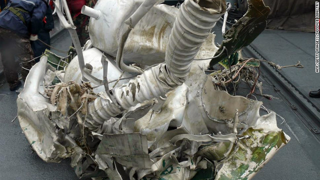 This photo from South Korea's Defence Ministry Sunday shows debris from North Korea's December 12 rocket launch.