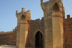 Las ruinas de Chellah, Marruecos