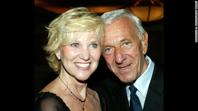 Jack Klugman and his wife, Peggy Crosby, attend a Pacific Broadcaster's event honoring Klugman at the Sportsman Lodge on September 26, 2003, in Studio City, California.