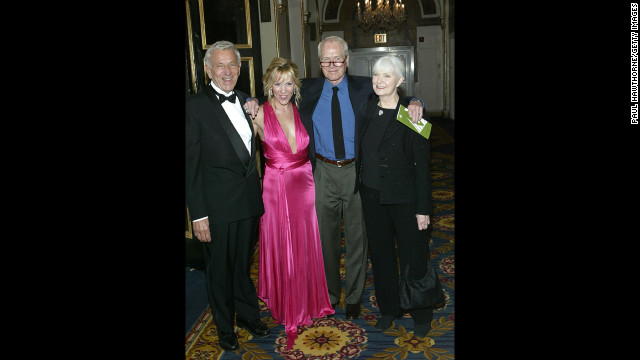 Klugman, Heather Randall, Paul Newman and Newman's wife, Joanne Woodward, attend the National Actors Theater Benefit &quot;A Broadway Frolic 2004&quot; at The Plaza Hotel on April 19, 2004, in New York.