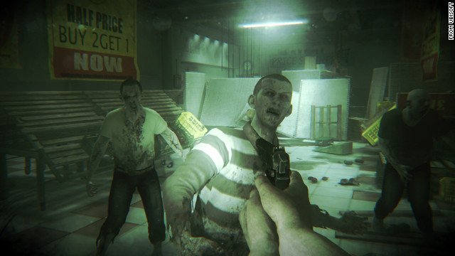 Zombies overrun a supermarket in this scene from &quot;ZombiU,&quot; a dark tale of survival during a zombie outbreak in London.